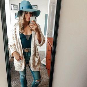 Smokey Blue Piper Floppy Hat